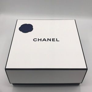 New Chanel gifts box Navy Blue camelia stickers.